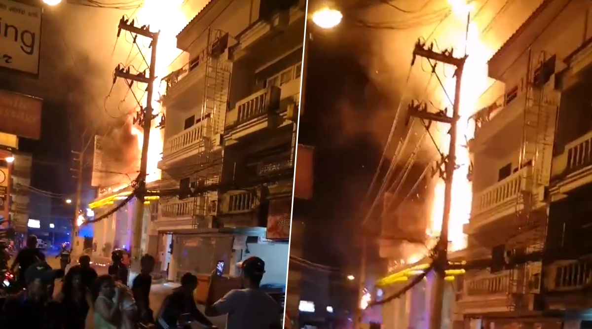 Holiday Inn Express Hotel in Pattaya Catches Fire, Over 400 People Evacuated to Safety (Watch Pics and Video)