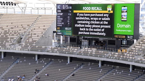 Food Scare at Perth As Dodgy Chicken Wrap Creates Chaos During Australia vs New Zealand 1st Test 2019