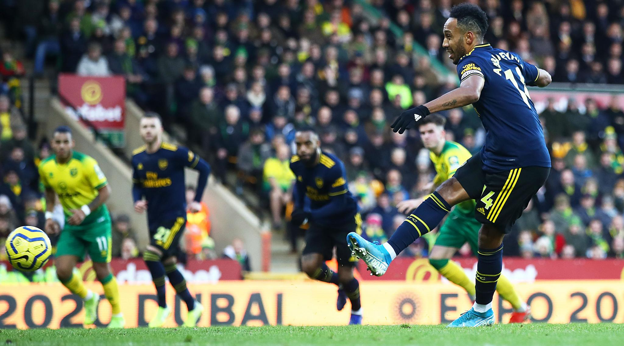 Arsenal 2-2 Norwich City, Premier League 2019-20 Result: Pierr-Emerick Aubameyang Double Avoids Defeat for Gunners But Extend Winless Streak