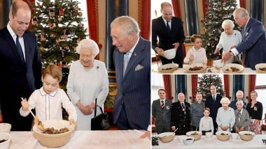 Prince George Mixes Christmas Pudding As Family Looks on, See Adorable Picture