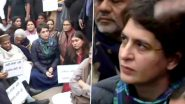 Priyanka Gandhi Vadra Sits on Dharna at India Gate to Protest Police Action Against Jamia and AMU Students Over CAA