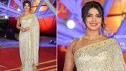 Priyanka Chopra Jonas Gets Honoured at the Marrakech International Film Festival And It's Her Desi Appearance In a Brocade Saree Which Is Just Wow (View Pics)