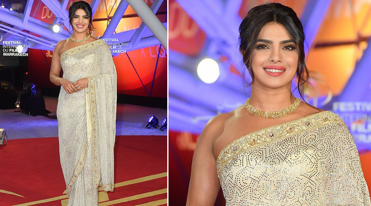 Priyanka Chopra Jonas Gets Honoured at the Marrakech International Film Festival And It's Her Desi Appearance In a Saree Which Is Just Wow (View Pics)