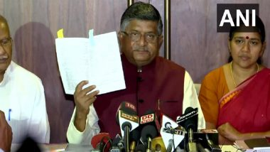Citizenship Not State Subject, Only Parliament Mandated to Pass Law On It: Ravi Shankar Prasad on Kerala's Resolution to Scrap CAA