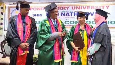 Pondicherry University: Hijab-Clad Student Rabiha Allegedly Asked to Leave Convocation Attended by President Kovind, Refuses Gold Medal in Protest (Watch Video)
