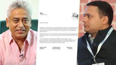 Editors Guild Lambasts BJP IT Cell Chief Amit Malviya for Twitter Poll on Rajdeep Sardesai, Calls it 'Offensive, Tasteless, and Deplorable'