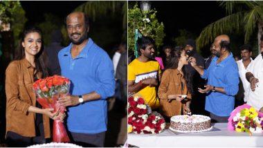 Thalaivar 168: Rajinikanth and Team Celebrate Keerthy Suresh's National Award Win on the Sets (View Pics)