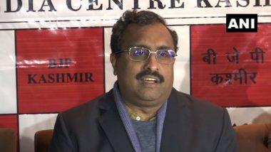 Ram Madhav in Quarantine After J&K BJP Chief Ravinder Raina Tests Positive for COVID-19