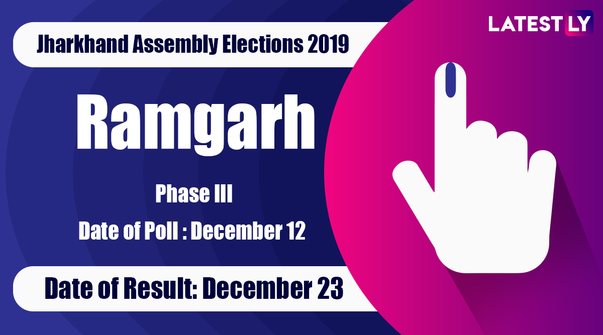 Ramgarh Vidhan Sabha Constituency Result in Jharkhand Assembly Elections 2019: Mamta Devi of Congress Wins MLA Seat