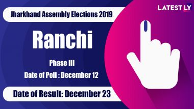 Ranchi Vidhan Sabha Constituency in Jharkhand: Sitting MLA, Candidates For Assembly Elections 2019, Results And Winners
