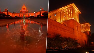 Rashtrapati Bhavan Dons Saffron to Raise Awareness About Violence Against Women, See Pics