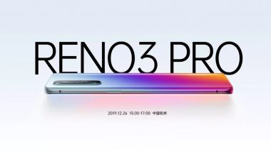Oppo Reno 3 Pro 5G Smartphone To Feature Curved Edge Display With 90Hz Refresh Rate