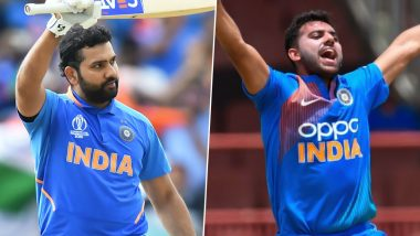 Year Ender 2019: From Rohit Sharma's Five World Cup Centuries to Deepak Chahar's Best Bowling Figures in T20Is, Here's A Look at Prestigious Records Made By Indian Cricketers This Year