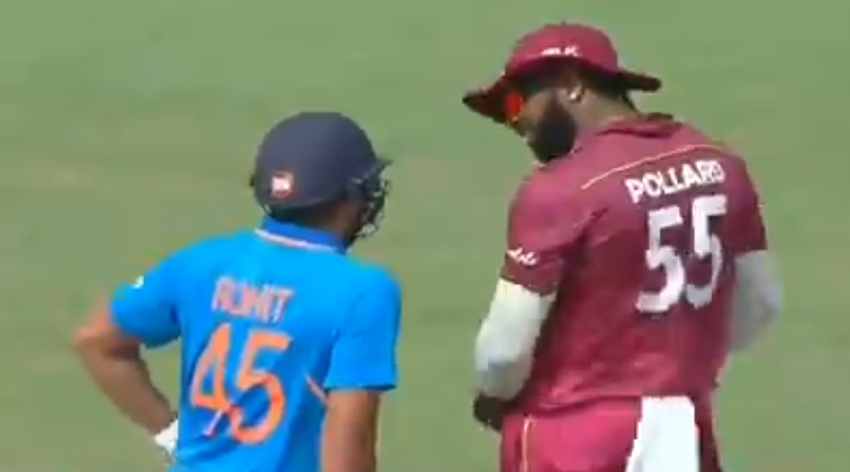Rohit Sharma Caught on Camera Using Cuss Word for Kieron Pollard During India vs West Indies 1st ODI 2019, Watch Video