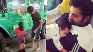 Year Ender 2019: MS Dhoni-Ziva And Rohit Sharma-Samaira's Adorable Father-Daughter Moments Will Melt Your Heart (Watch Videos)