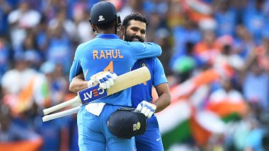 India vs West Indies 2nd ODI 2019: Rohit Sharma, KL Rahul Bring Up 100-Run Partnership for the First Wicket; Latter Scores Half-Century