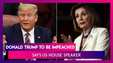 Donald Trump To Be Impeached, Announces US House Speaker Nancy Pelosi