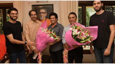 Sachin Tendulkar, Sunil Gavaskar Meet Maharashtra CM Uddhav Thackeray at Matoshree (View Pictures)