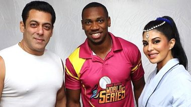 Salman Khan and Jacqueline Fernandez Are Elated to Meet Ace Sprinter Yohan Blake, Teach him Bollywood Dance Steps! (View Pics)
