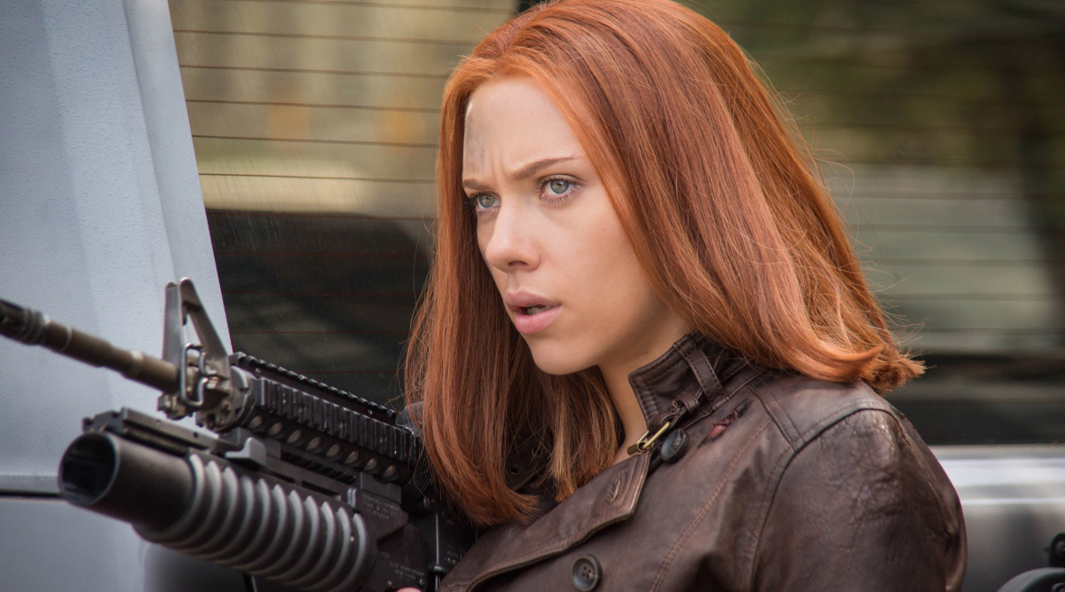 Scarlett Johannson in Captain America: The Winter Soldier