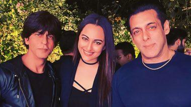 Salman Khan and Shah Rukh Khan Once Again Give Fans Major 'Karan-Arjun' Feels, Thanks To Sonakshi Sinha! (View Pic)