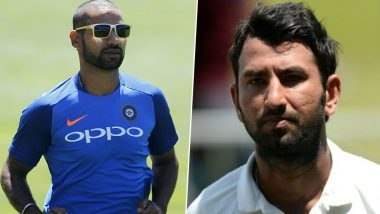 Shikhar Dhawan Hilariously Trolls Cheteshwar Puajara After Latter Expresses His Disappointment of Being Away From Cricket