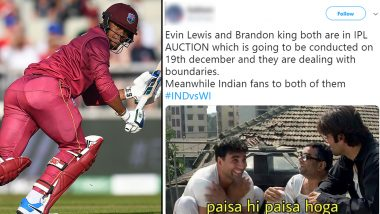 India vs West Indies 1st T20I 2019:  Twitterati Share Funny Memes, Assume Windies Batsmen Playing With IPL 2020 Auctions in Mind