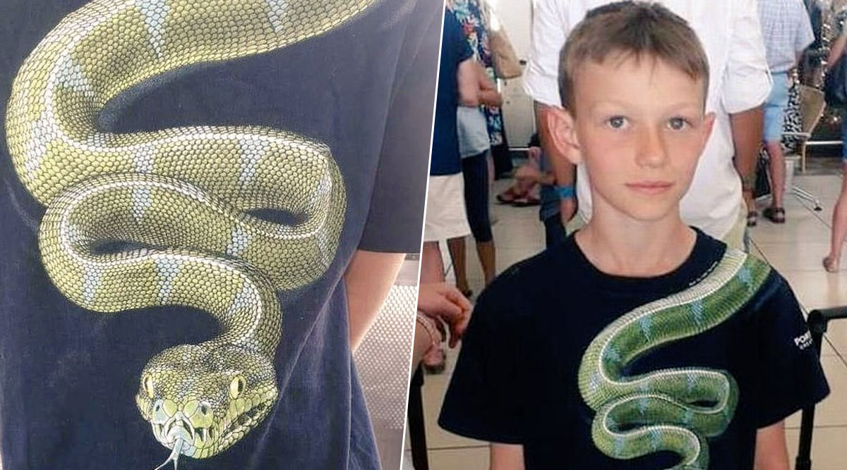 Boy With Snake Printed on His Shirt Asked to Take it Off by New Zealand Airport Authorities (View Pic)