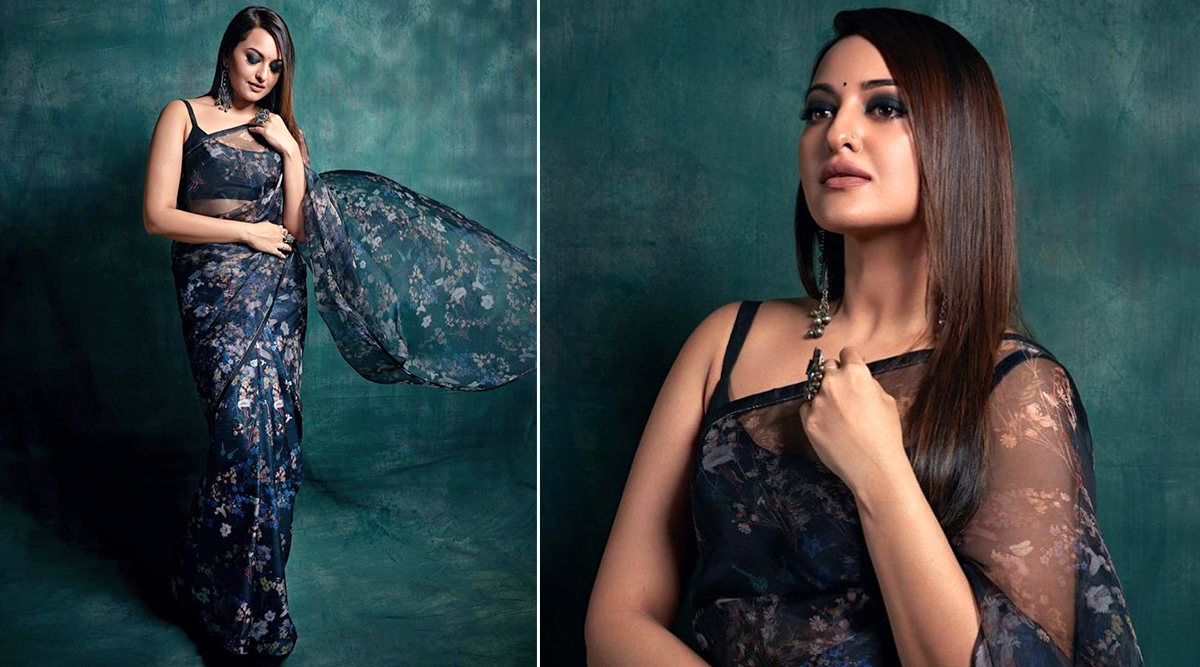 Sonakshi Sinha Is a Floral Daze in Raw Mango Saree for Dabangg 3 Promotions!