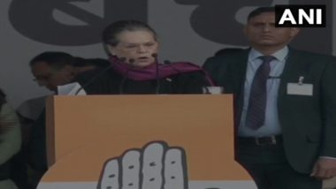 'Bharat Bachao' Rally: Modi-Shah 'Shredding Soul of India' Through Citizenship Amendment Bill, Says Sonia Gandhi