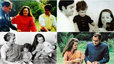 Sonia Gandhi 73rd Birthday: Congress President Turns a Year Older, Take a Look at These Rare Family Photos
