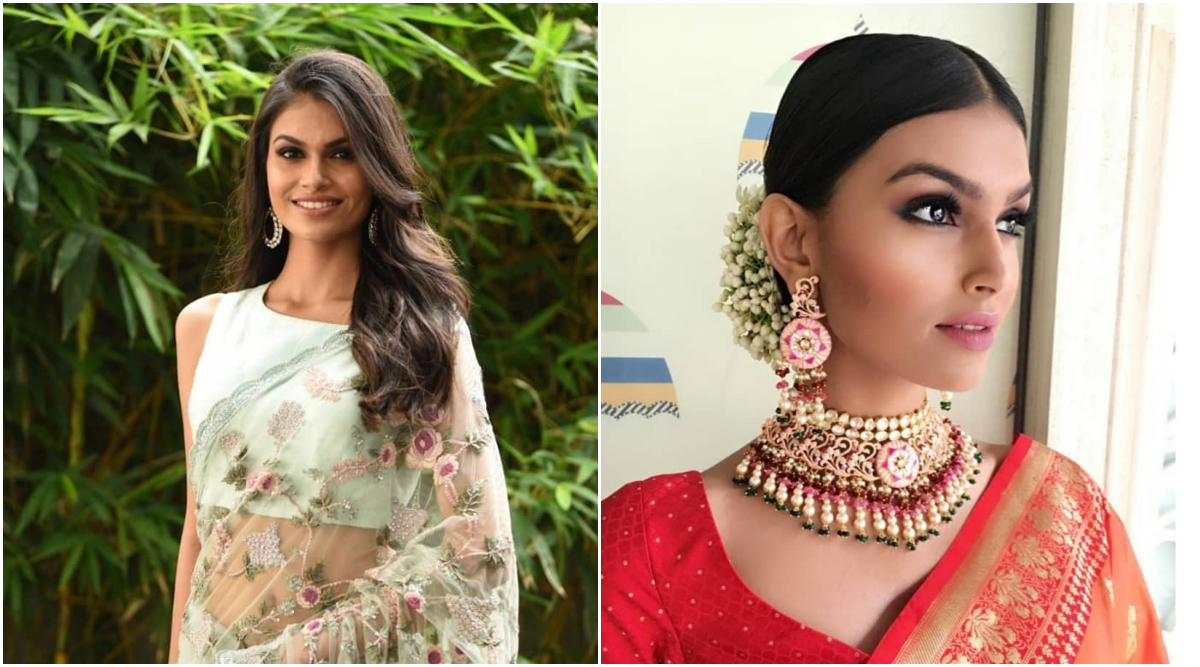 Suman Rao, Miss World India 2019's Beautiful Saree Looks As She Is Set To Participate in 69th Edition of Beauty Pageant (View Pics)