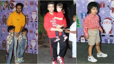 Taimur Ali Khan, Karan Johar With Kids Yash and Roohi, Riteish Deshmukh and Others Attend Arpita Khan Sharma and Ayush Sharma's Christmas Bash (See Pics)