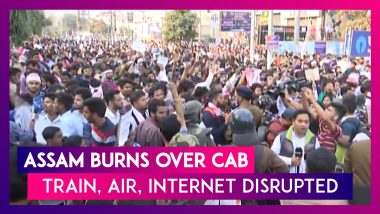 Assam Burns Over CAB: Train, Air Services Hit, Army Deployed, Internet Suspended