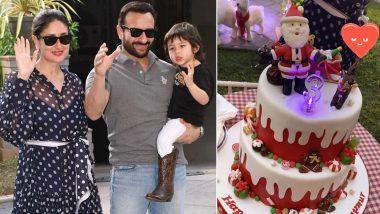 Saif Ali Khan-Kareena Kapoor Khan's Baby Boy Taimur Gets the Perfect Christmas-Themed Cake on His Birthday