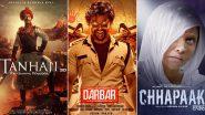 It's Ajay Devgn's Tanhaji vs Rajinikanth's Darbar vs Deepika Padukone's Chhapaak! 3 Big Films to Clash This January 2020