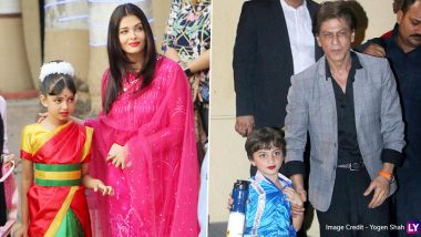 Netizens Cannot Stop Gushing about Aishwarya Rai Bachchan's Daughter Aaradhya and Shah Rukh Khan's Son AbRam after Pics from Their School's Annual Day Function Hit Online