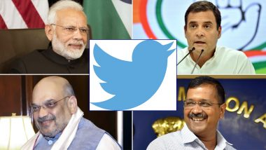 Most Tweeted Handles in Politics 2019 Male: Narendra Modi, Rahul Gandhi, Amit Shah, Arvind Kejriwal and Other Top Political Twitter Profiles in India This Year