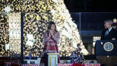 Donald Trump, First Lady Melania Trump Take Part in National Christmas Tree Lighting Ceremony at White House