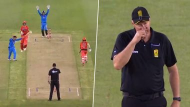 Umpire Raises Finger Only to Rub his Nose During Melbourne Renegades vs Adelaide Strikers Match in BBL 2019–20, Rashid Khan Even Celebrates Fall of the Wicket; Watch Video
