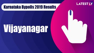 Vijayanagar Bypoll 2019 Result For Karnataka Assembly Live: Anand Singh of BJP Leading