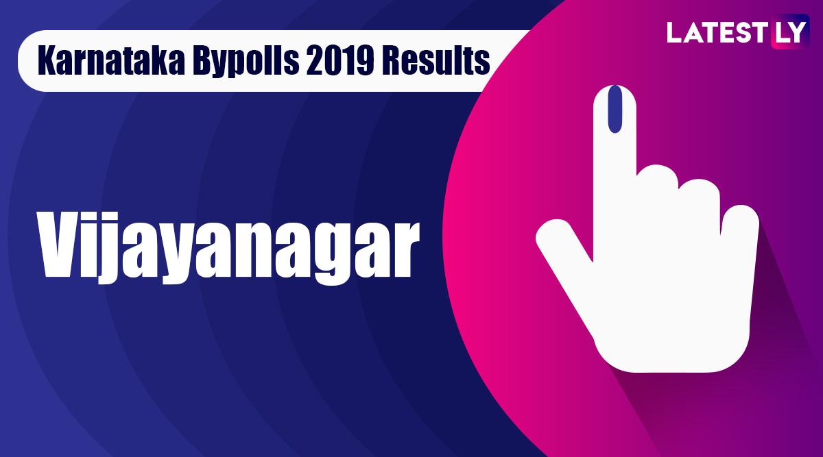 Vijayanagar Bypoll 2019 Result For Karnataka Assembly Live: Anand Singh of BJP Leading