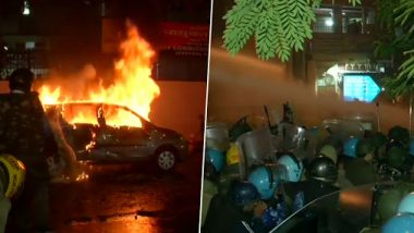 Anti-CAA Protests Turn Violent in Old Delhi, Protesters Torch Car in Daryaganj Area And Vandalise Public Property