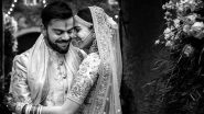 Anushka Sharma and Virat Kohli Wish Each Other on Their Second Wedding Anniversary With Beautiful Monochrome Pictures!