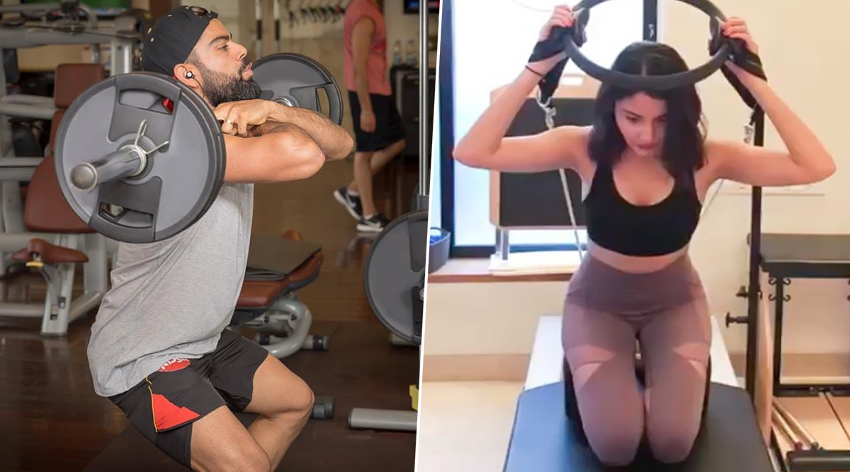 Virat Kohli & Anushka Sharma 2nd Wedding Anniversary: Exercise Videos of Virushka That Proves Them To Be a Fitness Freak Couple