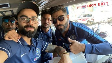 Virat Kohli Shares Cool Selfie on Instagram With Ravindra Jadeja and Kuldeep Yadav After Team India Touches Down in Chennai for IND vs WI 1st ODI 2019