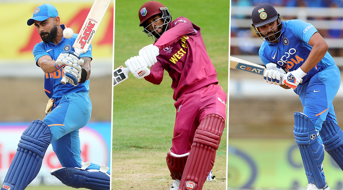 Most Runs in ODIs in 2019: Virat Kohli, Rohit Sharma and Shai Hope to Tussle for the Top Spot in Ongoing India vs West Indies Series