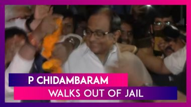 P Chidambaram Walks Out Of Jail In The INX Media Case After Supreme Court Grants Him Bail