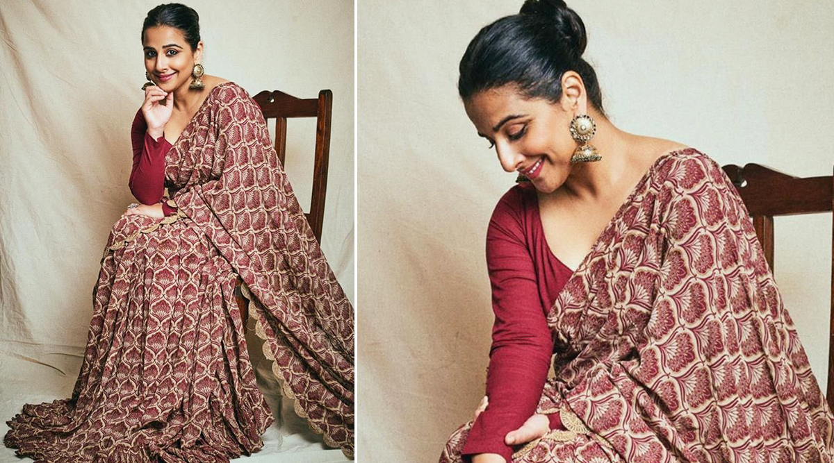 Wedding Fashion 2019 -20: Vidya Balan Oozes Elegance in a Printed Saree, Here's How You Can Get Her Stunning Style!