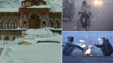 Winter 2019: Cold Waves Grip North India as Mercury Dips Following Snowfall in The Hills, Badrinath Temple in Uttarakhand Covered in Snow, See Pics
